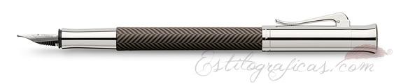 Pluma Estilográfica Graf von Faber-Castell Guilloche Ciselé Marrón 146770
