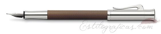 Pluma Estilográfica Graf von Faber-Castell Guilloche Coñac