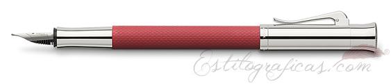 Pluma Estilográfica Graf von Faber-Castell Guilloche Coral