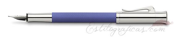 Pluma Estilográfica Graf von Faber-Castell Guilloche Índigo
