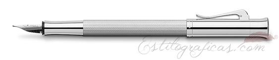 Pluma Estilográfica Graf von Faber-Castell Guilloche Rodio