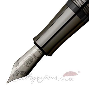 Plumín Estilográfica Graf von Faber-Castell Pen of the Year 2018 Negro