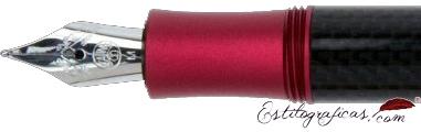Plumín de Kaweco AC Sport Aluminio Rojo y Carbono Edición Limitada