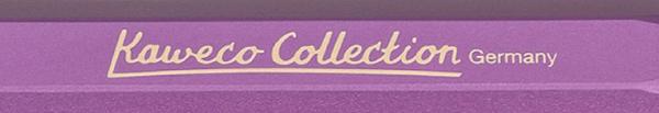 Inscripción Kaweco Collection en capuchón de AL Sport violeta