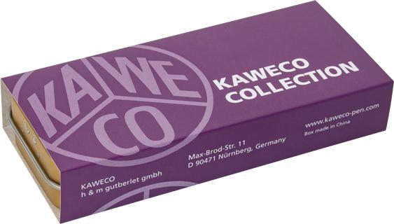 Cartón que recubre estuche de latón de la edición especial violeta de Kaweco