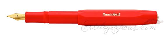 Pluma Estilográfica Kaweco Classic Sport Rojo Fuego