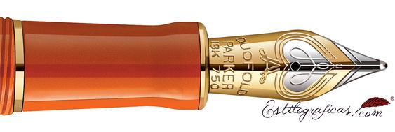 Plumín de oro macizo 18k de Duofold Big Red
