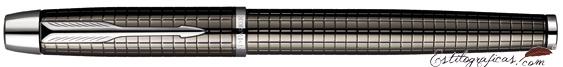 Pluma Estilográfica Parker IM Premium Deep Gun Metal Chiselled Cerrada