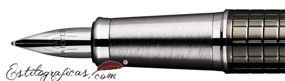 Plumín de Pluma Estilográfica Parker IM Premium Carbon cincelado
