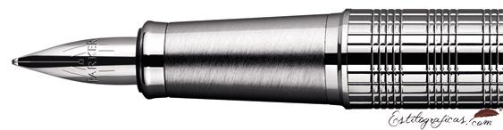 Plumín de Pluma Estilográfica Parker IM Premium cromo cincelado