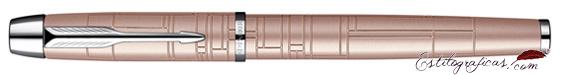 Pluma Estilográfica Parker IM Premium Rosa Metálico cerrada