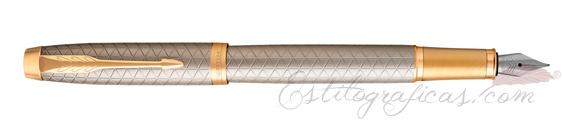 Pluma Estilográfica Parker IM Premium Plata GT 1931684