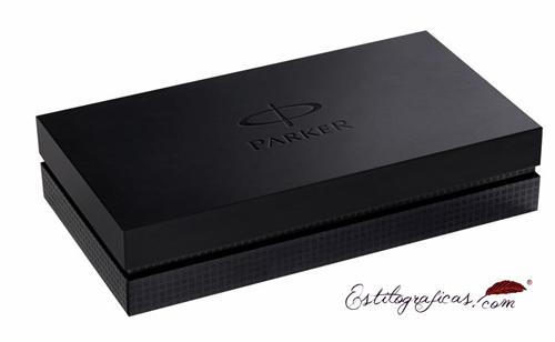 Caja regalo de la estilográfica de lujo Parker Premier marrón