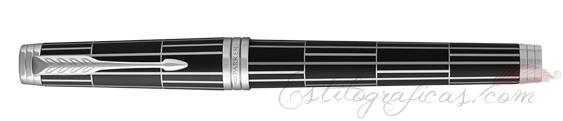 Pluma Estilográfica Parker Premier Luxury Negro cerrada