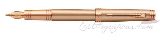 Pluma Estilográfica Parker Premier Monochrome Pink Gold S0960780