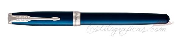Estilográfica Parker Sonnet Blue Lacquer 18K Cerrada
