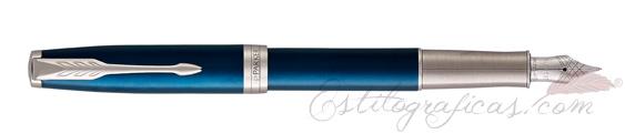 Pluma Estilográfica Parker Sonnet Azul CT 18K 1931533