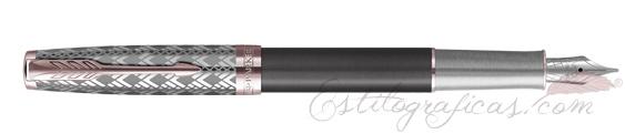 Pluma Estilográfica Parker Sonnet Metal and Grey Lacquer 2119788