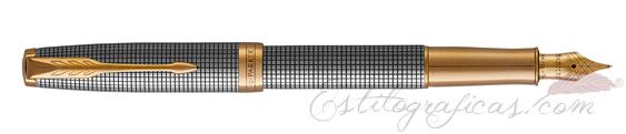 Pluma Estilográfica Parker Sonnet Plata Cincelada GT 1931489