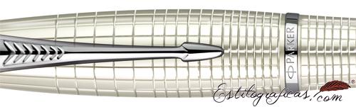 Detalle de Estilográfica Parker Urban Premium perla metálico