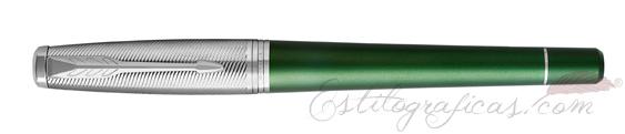 Pluma Estilográfica Parker Urban Premium Verde Oscuro CT cerrada