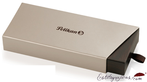 estuche presentación de la pluma Pelikan Classic M 200 Cognac