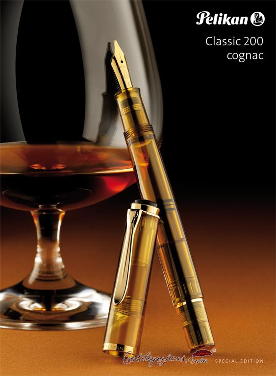 Publicidad de la Pelikan Classic M 200 Cognac