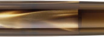 Detalle del cuerpo marmóleo y del visor de la estilográfica M200 Brown Marbled