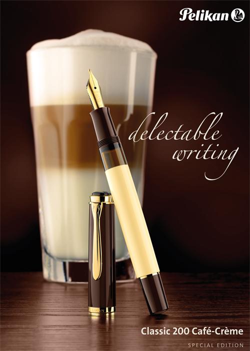 Publicidad de la estilográfica M 200 Café