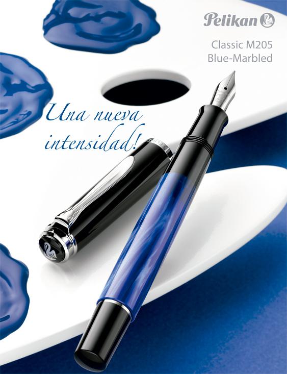 Anuncio estilográfica Pelikan Classic M 205 Azul Marmoleado
