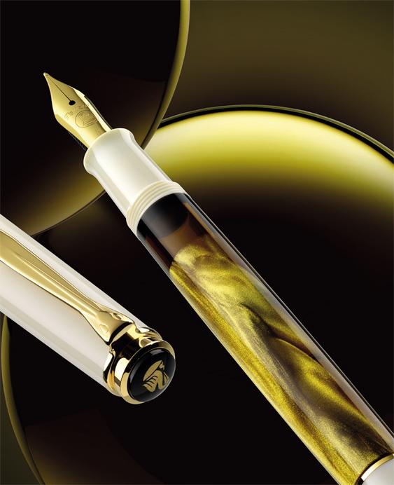 Anuncio estilográfica Pelikan M 200 Gold-Marbled