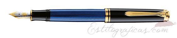 Pluma estilográfica Pelikan Souverän M 600 Negra y Azul 988162