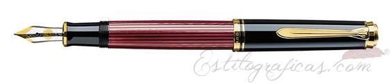 Pluma estilográfica Pelikan Souverän M 600 Negra y Roja 928911