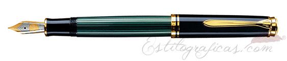 Pluma estilográfica Pelikan Souverän M 600 Negra y Verde 979450