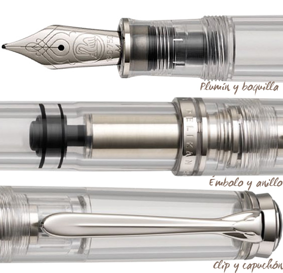 Partes de la pluma estilográfica Pelikan Demonstrator