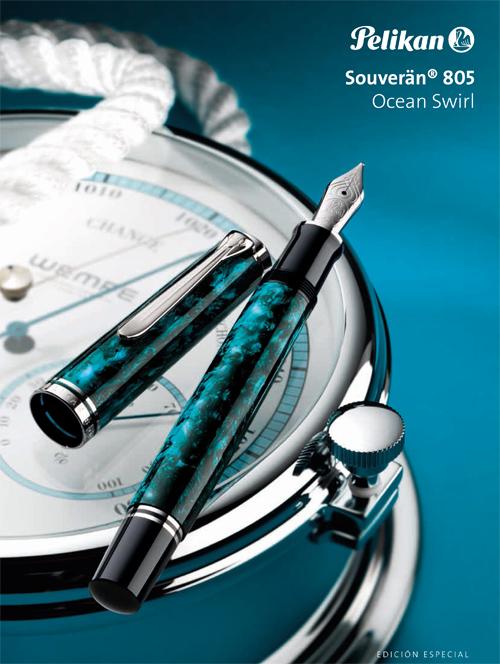 Publicidad de Pelikan M 805 Ocean Swirl