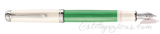 Estilográfica Pelikan Souverän M 604 Green-White 818193