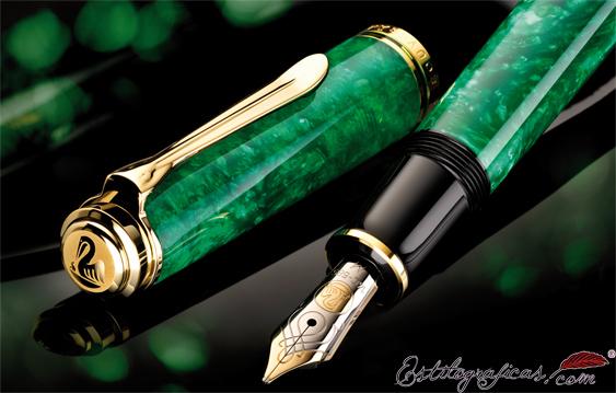 Plumas estilográficas Pelikan Souverän M600 Vibrant Green 942607