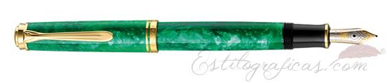 Pluma estilográfica Pelikan Souverän M600 Verde Vibrante 942599