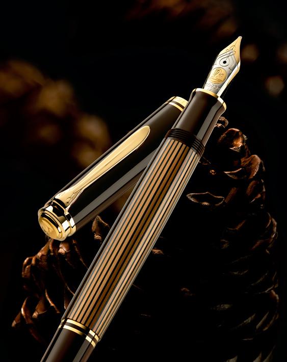 Publicidad Estilográfica Pelikan M 800 Brown-Black