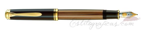 Estilográfica Pelikan Souverän M 800 Brown-Black 813969