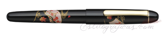 Pluma Estilográfica Platinum 3776 Century Maki-e Senmen PNB-30000B #82