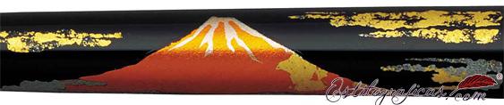 Detalle de la pluma Platinum Monte Fuji