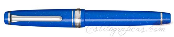 Estilográfica Sailor Professional Gear Slim Blue Dwarf cerrada