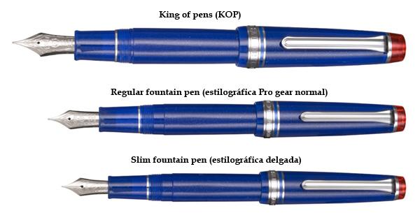 Comparativa de los modelos KOP, Regula y Slim de la Professional Gear de Sailor