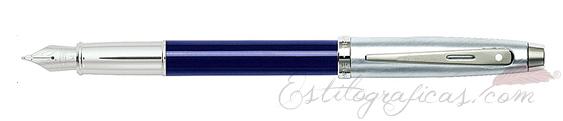 Plumas estilográficas Sheaffer Gift 100 azul y cromo 9308-0