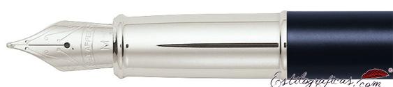Plumín de plumas estilográficas resina azul y cromo bruñido Gift Collection de Sheaffer