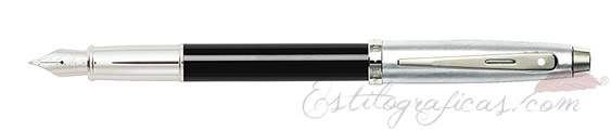 Plumas estilográficas Sheaffer Gift 100 negro y cromo 9313-0