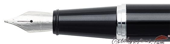 Plumín de plumas estilográficas Gift 300 Negro Brillante y Cromo de Sheaffer