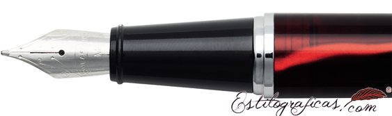 Plumín de plumas estilográficas Gift 300 Roja y Cromo de Sheaffer